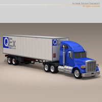 Us freight truck 3D Model