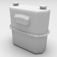 Gasmeter angular 3D Model
