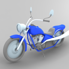 Motorcycle with control 3D Model