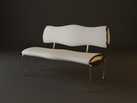 Upholstered Bench 3D Model
