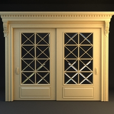 Wide Double Door 3D Model