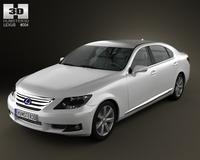 Lexus LS 600h 2010 3D Model