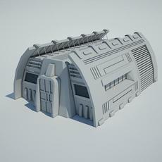 Futuristic Sci Fi Building 9 3D Model