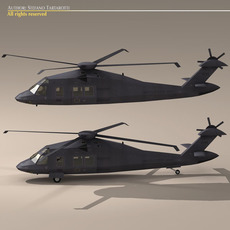 MH60 Stealth Blackhawk 3D Model
