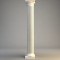 Classical Stone Column 3D Model