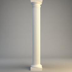 Classical Stone Column 3D Model