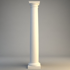 Classical Stone Column 2 3D Model