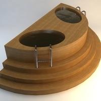 Wooden Baptistery 3D Model