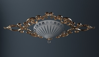 Ornate Ceiling Light Fixture 3D Model