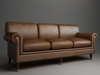 Rolled Arm Sofa 3 3D Model
