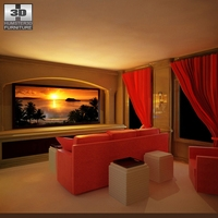 Home theatre set 4 3D Model