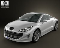 Peugeot 308 RCZ 2011 lowpoly 3D Model