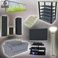 Home theatre set 3 3D Model