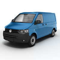 Volkswagen Transporter 2010 3D Model
