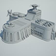 Futuristic Sci Fi Building 8 3D Model