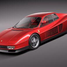 Ferrari Testarossa 1984-1990 3D Model