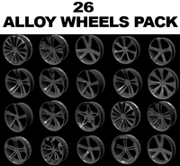 Alloy wheel collection 3D Model