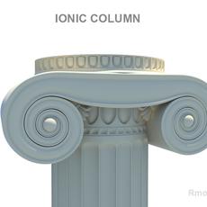 Greek Column Ionic 3D Model
