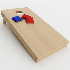 Cornhole Game 3D Model