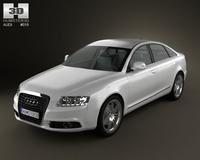 Audi A6 sedan 2011 3D Model