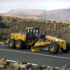 Caterpillar 24M Motor Mining Grader 3D Model
