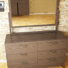 Ashley Sonya Dresser & Mirror 3D Model
