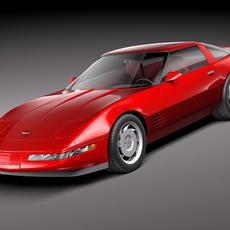 Chevrolet Corvette C4 ZR1 3D Model
