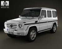 Mercedes-Benz G-class 2011 3D Model