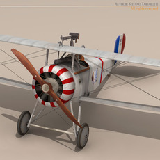 Nieuport 17 Lafayette Escadrille 3D Model