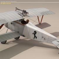 Nieuport 17 Baracca 3D Model