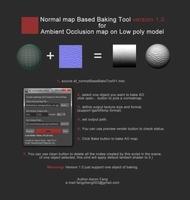 Normal Map Based Baking Tool Version 1.0 for AO 1.0.0 for Maya (maya script)
