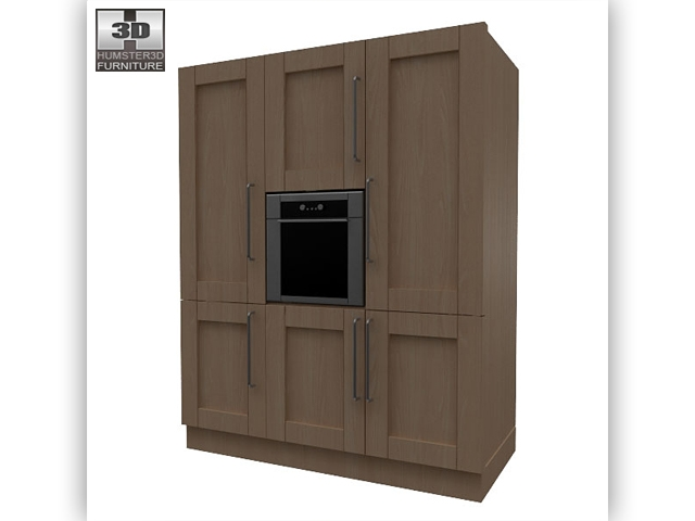 Kitchen set i1 3d model for Model kitchen set sederhana