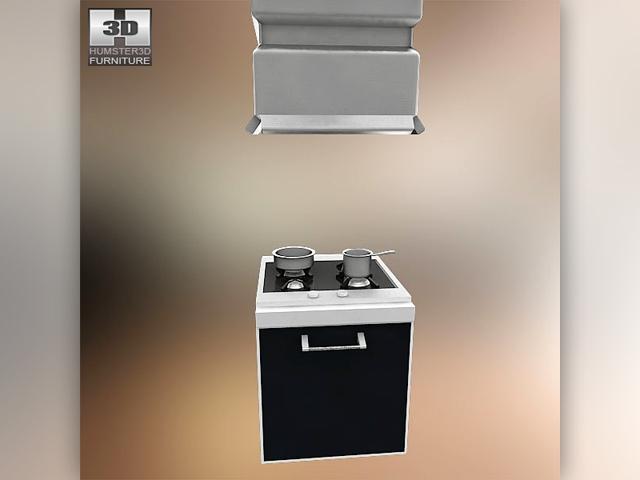Kitchen set i2 3d model for Model kitchen set