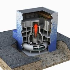 Nuclear reactor 3D Model