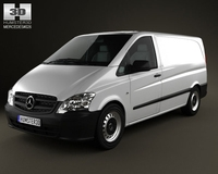 Mercedes-Benz Vito PanelVan Long 2011 3D Model