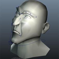 Maya muscle facial rig for Maya 1.0.0