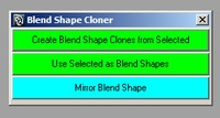 Blend Shape Cloner for Maya 1.0.1 (maya script)