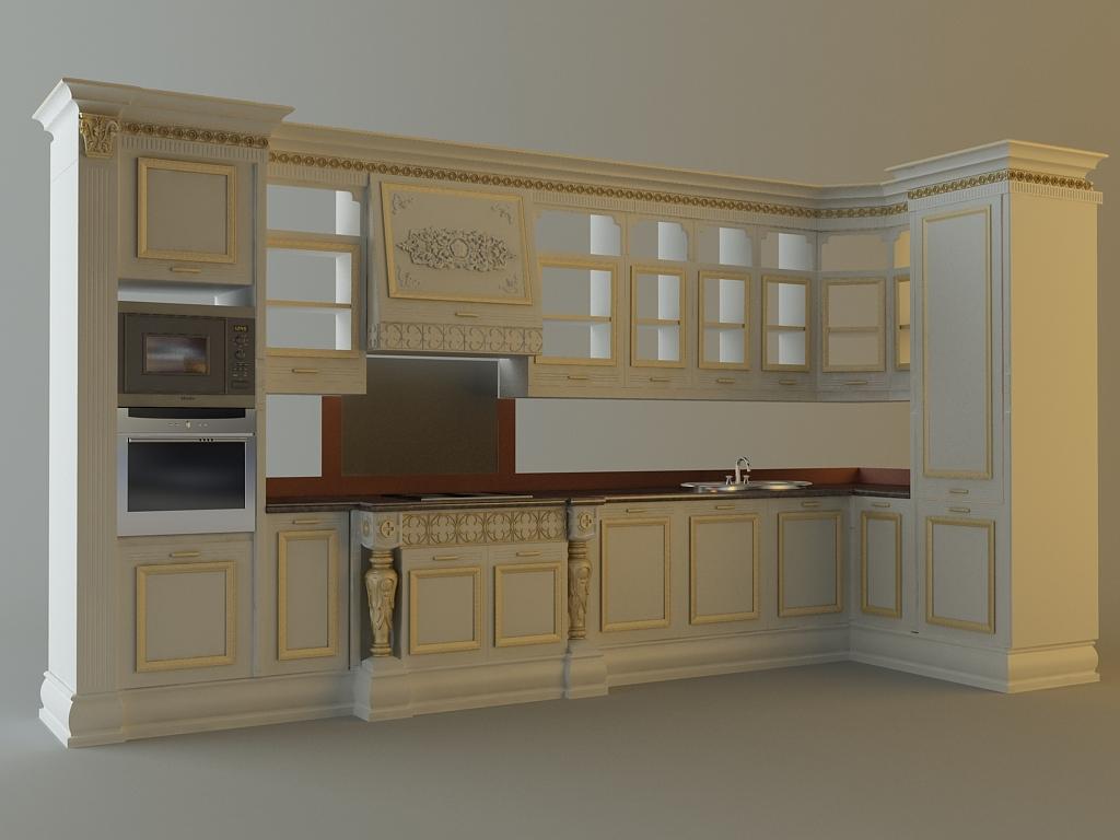 Kitchen Cabinets Appliances 3d Model