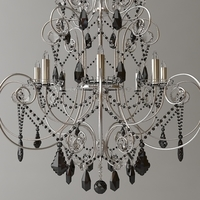 Ornate Beaded Chandelier 2 3D Model