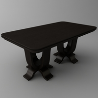 Rectangular Table 3D Model