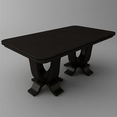 Rectangular Table 3D Model