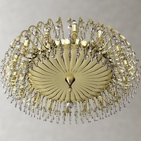 Detailed Antique Chandelier 3D Model