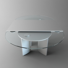 Oval Glass Top Table 3D Model