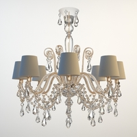 Ornate Beaded Chandelier 3 3D Model
