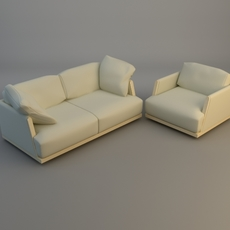 Sofa and Armchair 3D Model