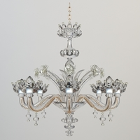 Ornate Crystal Chandelier 3D Model
