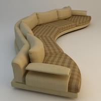 Curvy Sofa 3D Model