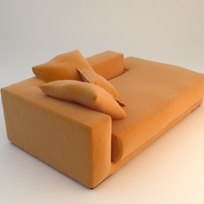 Orange Sofa Daybed 3D Model