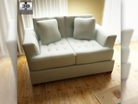 Ashley Zia - Spa Loveseat 3D Model