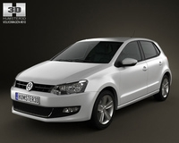 Volkswagen Polo 5door 2010 3D Model